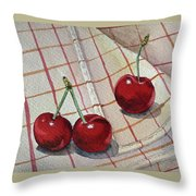 Cherry Talk By Irina Sztukowski Throw Pillow