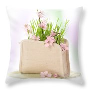 Cherry Blossom Throw Pillow by Amanda Elwell