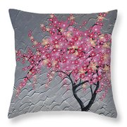 Cherry Blossom In Pink Throw Pillow