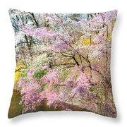 Cherry Blossom Land Throw Pillow