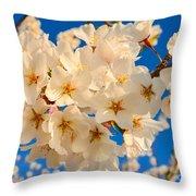 Cherry Blossom Macro Throw Pillow