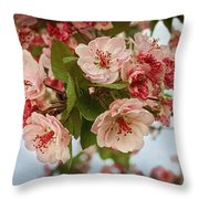 Cherry Blossom Pink Throw Pillow