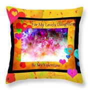Cherry Blossom Valentine - Featured In Comfortable Art And Cards For All Occasions Groups Throw Pillow