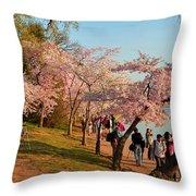 Cherry Blossoms 2013 - 007 Throw Pillow