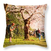 Cherry Blossoms 2013 - 009 Throw Pillow