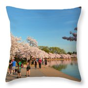 Cherry Blossoms 2013 - 020 Throw Pillow