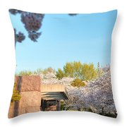 Cherry Blossoms 2013 - 021 Throw Pillow