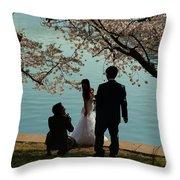 Cherry Blossoms 2013 - 054 Throw Pillow
