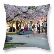 Cherry Blossoms 2013 - 069 Throw Pillow