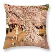 Cherry Blossoms 2013 - 076 Throw Pillow