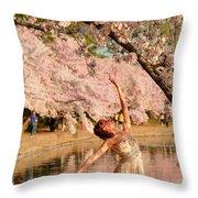 Cherry Blossoms 2013 - 077 Throw Pillow