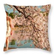 Cherry Blossoms 2013 - 079 Throw Pillow