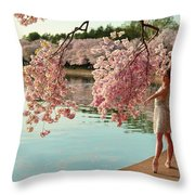 Cherry Blossoms 2013 - 085 Throw Pillow