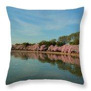 Cherry Blossoms 2013 - 087 Throw Pillow