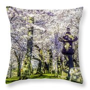Cherry Blossoms 2014. Throw Pillow