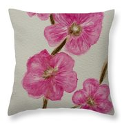 Cherry Blossoms Blooming  Throw Pillow
