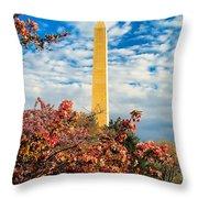 Cherry Blossoms In Washington Throw Pillow