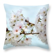 Cherry Blossoms No. 9146 Throw Pillow