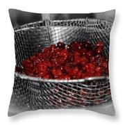 Cherry Bowl Throw Pillow
