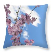 Cherry Floral Fountain Throw Pillow