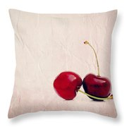 Cherry Love Throw Pillow