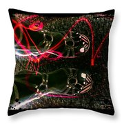 Cherry Neon Shoes Throw Pillow