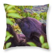 Cherry Picker Throw Pillow