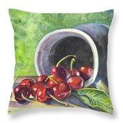 Cherry Pickins Throw Pillow