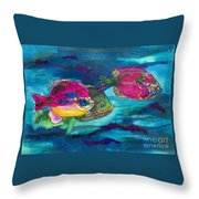 Cherry Toppers Throw Pillow by Kathy Braud