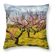 Cherry Trees 3.0 Throw Pillow