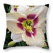 Cherryberry Daylily Throw Pillow