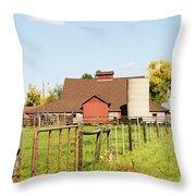 Cherryvale Barn Boulder Throw Pillow