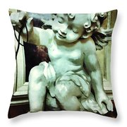 Cherub At Play Throw Pillow