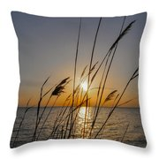 Chesapeak Bay At Sunrise Throw Pillow