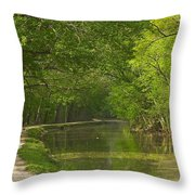 Chesapeake And Ohio Canal Towpath Throw Pillow