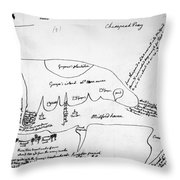Chesapeake Bay, 1776 Throw Pillow
