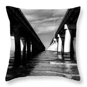 Chesapeake Bay Bridge II Throw Pillow