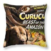 Chesapeake Bay Retriever Art - Curucu Movie Poster Throw Pillow