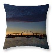 Chesapeake City Twilight Throw Pillow