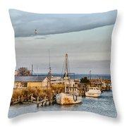 Chesapeake Fishing Boats Throw Pillow