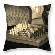 Chess Game Throw Pillow