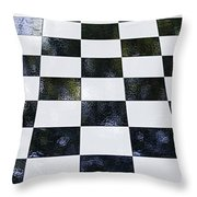 Chess In The Park Throw Pillow