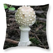 Chess Piece In The Forest Throw Pillow