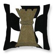 Chess Queen Throw Pillow