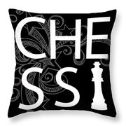Chess The Game Of Kings Throw Pillow by Daniel Hagerman