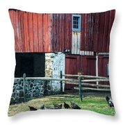 Chester County Chickens Throw Pillow