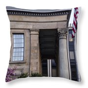 Chester County Court House-side View Throw Pillow