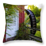 Chester County's Kimberton Mill Throw Pillow