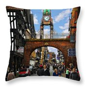 Chester Eastgate Clock Throw Pillow