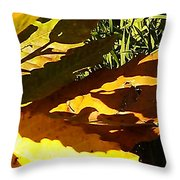 Chestnut Abstract Throw Pillow